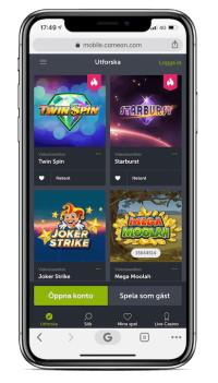 spela casino utan konto på mobilen